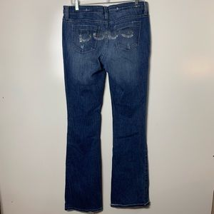Bebe jeans womens size 31 boot cut bling